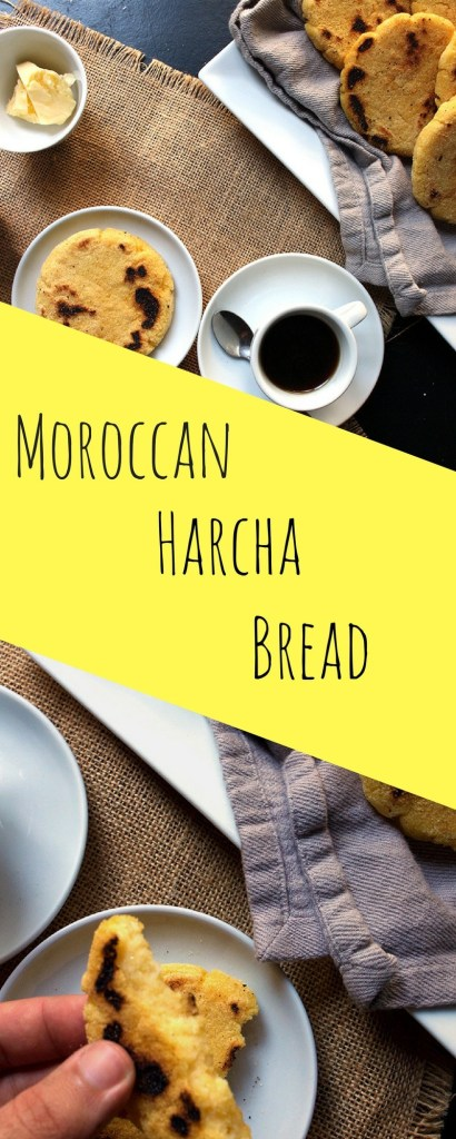 Moroccan Harcha Recipe | Easy 4 Ingredients Semolina bread that you can make under 15 minutes. Good for vegans, non vegans and carbaholics of course. |Brokefoodies.com