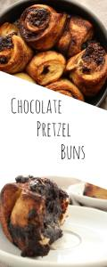 Mind blowing Dark Chocolate Pretzel Buns. Made like a pretzel, shaped like a roll, this what your dreams are made of.