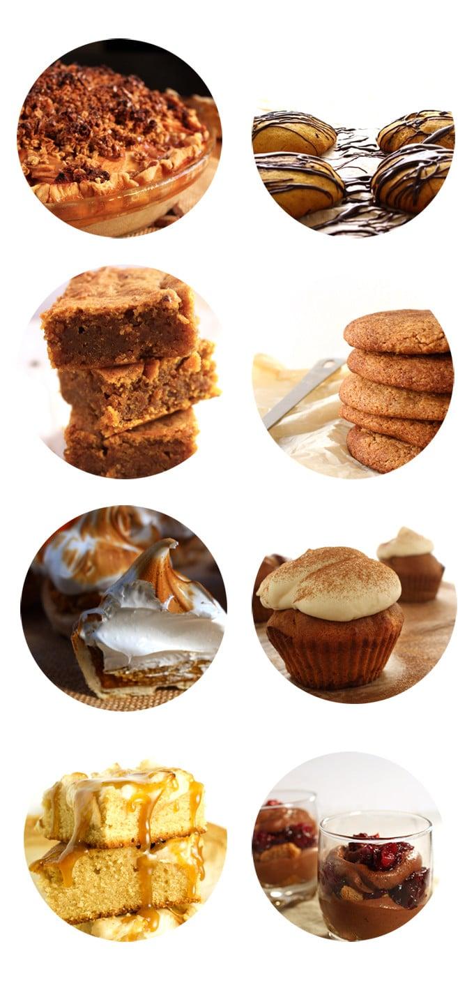 8 Amazing Dessert Ideas for Thanksgiving | Brokefoodies.com | 7 vegan options