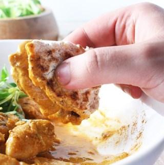 Keto Butter Chicken & Flatbread