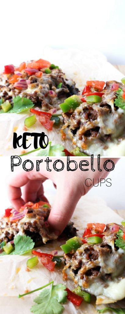 Loaded Keto Portobello Mushroom Cups - IF you have a craving for something meaty and fast, this is what you need to make!