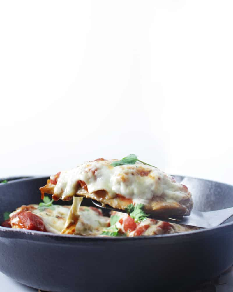 Keto Chicken Parmesan - This is an easy and quick recipe to make Keto Chicken Parmesan. Only 8 Ingredients Needed.