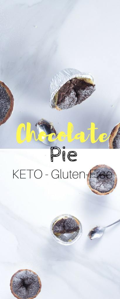 Keto Chocolate Pie - As decadent and indulgent as it looks, this keto chocolate pie recipe is gluten-free, good for you and will not put you in a food induced coma.