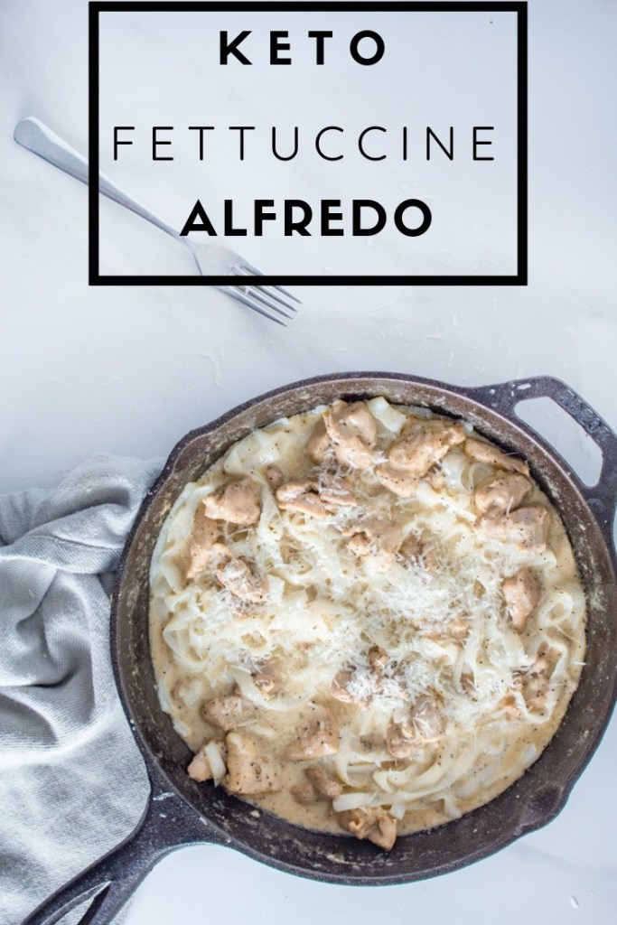 Keto Fettuccine Alfredo | This my new favorite way to eat pasta. Easy, low-carb and super speedy.