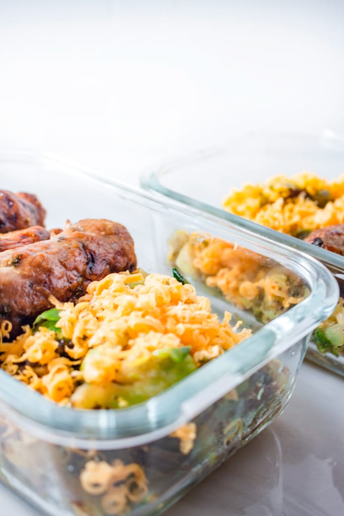 Keto Meal Prep | Turkey Kebabs & Buttery Brussel Sprouts
