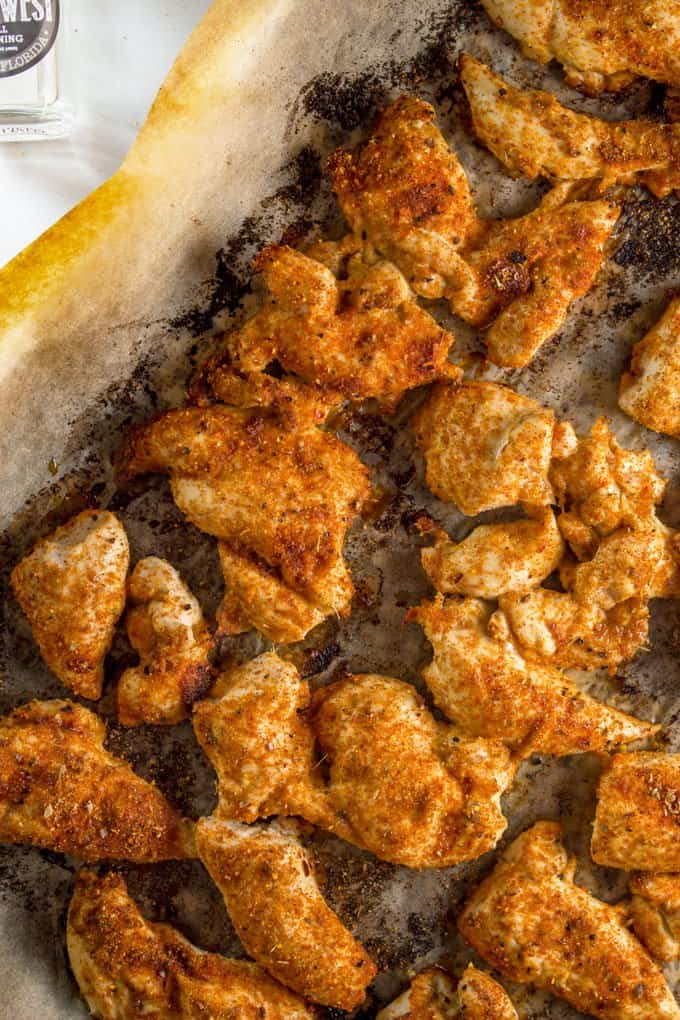 Roasted Chicken Breast Strips with Smokey Chipotle Dry Rub