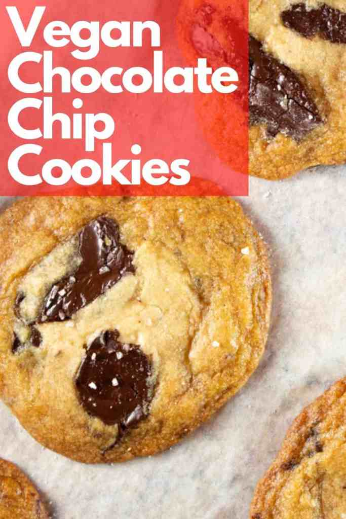 Vegan Chocolate chip cookies, made in one bowl. Chewy, chocolatey and simply amazing. #Cookies #vegan #easy #recipe #chocolate #chips