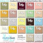Doulton Bathroom colourchart