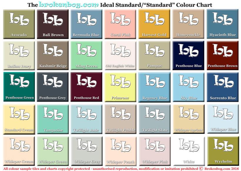 Bathroom colourchart Ideal