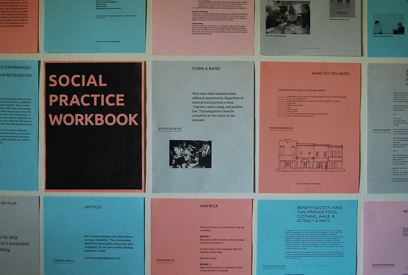 Workbooks practice workbook : Upcoming Exhibition & Artist Talk: The Art and Social Practice ...