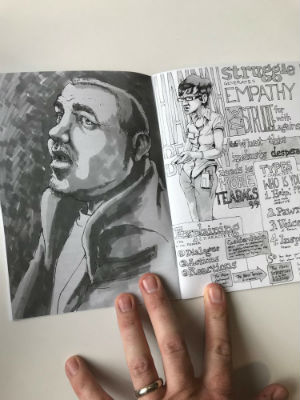Unconventional Wisdom - Aneurin Wright's Sketchbook Zine Captures Individual Moments in Time at Comics Events Across the Years