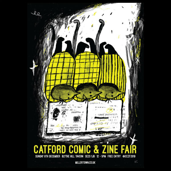 Don't Miss the Catford Comic and Zine Fair on Sunday December 8th! - Details Here on Getting Your Comic on the Communal Table Run by Broken Frontier