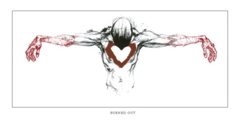 "Derek Hess print ""Burnt Out"""