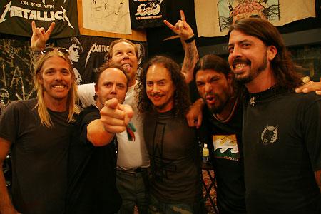 Metallica with members of Foo Fighters