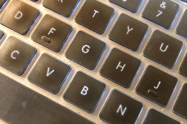 Keyboard at an angle