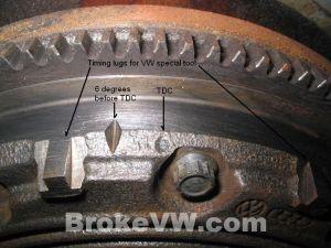 VWVortex  Timing marks on the OE Flywheel