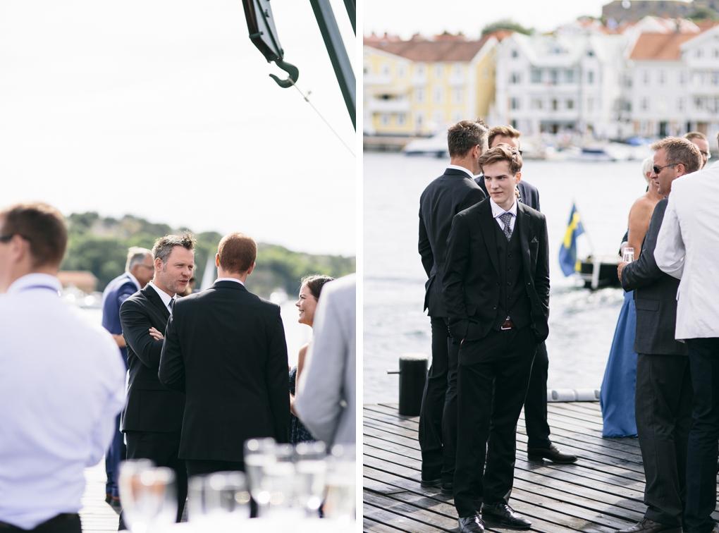 bröllop, marstrand, gäster, mingel