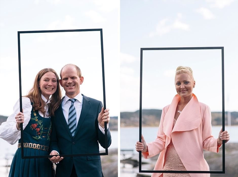bröllopsgäster porträtt