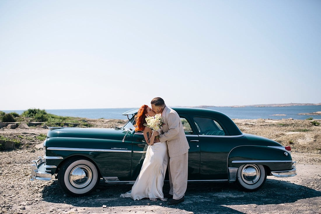 bröllopsporträtt västkusten