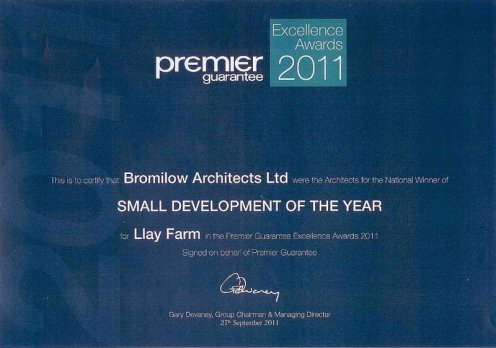 Bromilow Architects Ltd - Excellence Award-1