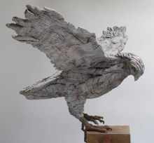 Touch Down - Bronze - by Marjan Wouda
