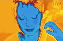 the cellist-blue