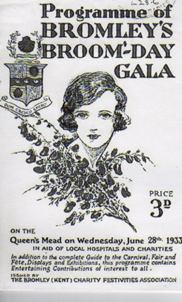1920s girl and broom sprig on poster