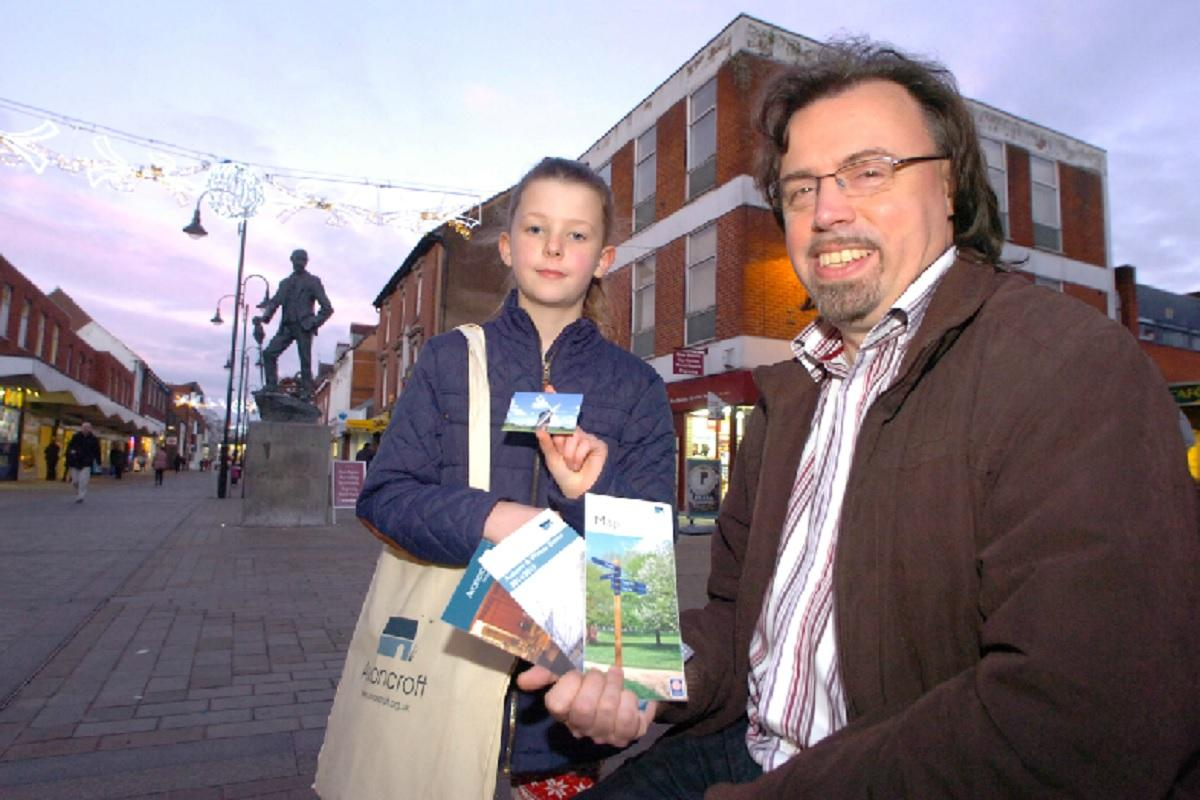 Alice Watkins, nine, has been celebrating after being named the winner of an annual pass to Avoncroft Museum. Picture with museum director Simon Carter. Buy this photo BMM511405