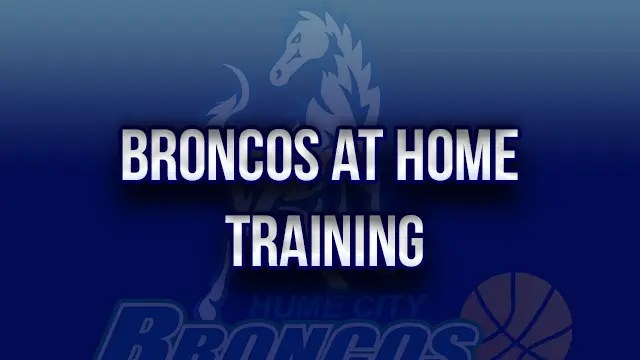 Broadmeadows broncos VJBL at home workouts
