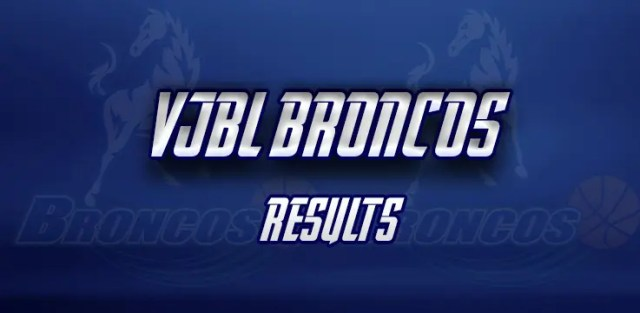 vjbl broncos results broadmeadows