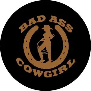 Bad Ass Cowgirl Tire Cover