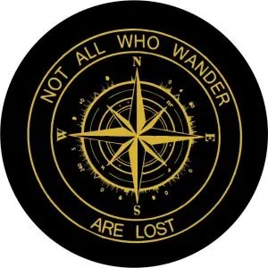 Gold Compass Tire Cover