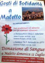MALETTO: DONAZIONE DI SANGUE