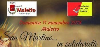 MALETTO: SAN MARTINO … IN SOLIDARIETA'