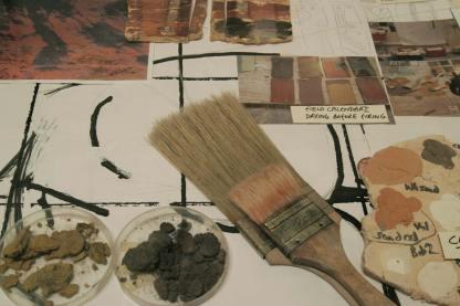 Ceramic sculpture -materials colours and tests