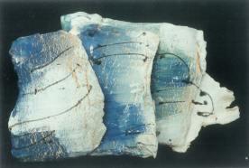 Rollers 2 ceramic sculpture