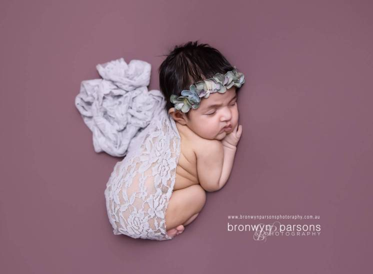 Posed newborn photography