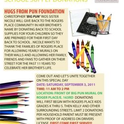 Hugs From Pun:Back to School Drive