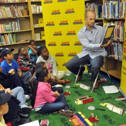 NY Yankee Brett Gardner Kicks off The Advil Congestion Relief in New York City  By Unveiling a Newly Decongested School Library