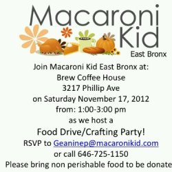 Food Drive and Crafting Party