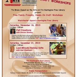Free Craft Workshops at the Huntington Free Library