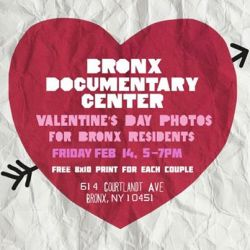 Free Valentine's photos at the Bronx Documentary Center