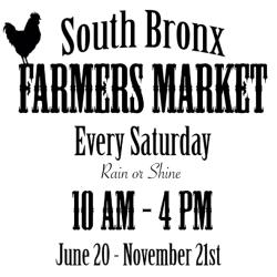 South Bronx Farmers Market 2015 Season