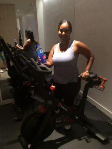 bxmama Dalilah on bike