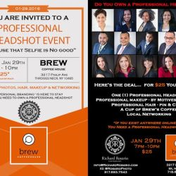 Professional Headshot Event at Brew Coffee House