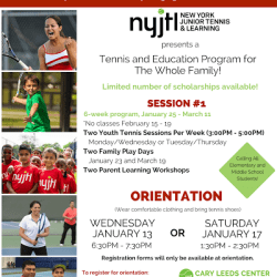 Tennis and Education Program for Families