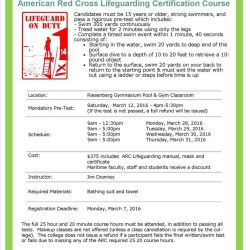 American Red Cross Lifeguarding Course