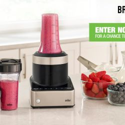 Win a Braun Puremix Blender + Smoothie2Go Set for Back to School