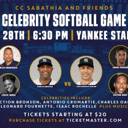 Giveaway: CC Sabathia & Friends Host Celebrity Softball Game at Yankee Stadium