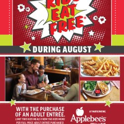Kids Eat Free at Applebees During the Month of August